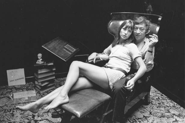 Jane Birkin, and Serge Gainsbourg; Image: Getty