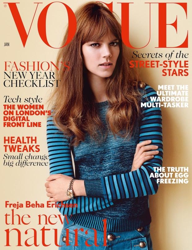 UK Vogue Jan 2015 Freja Beha Erichsen