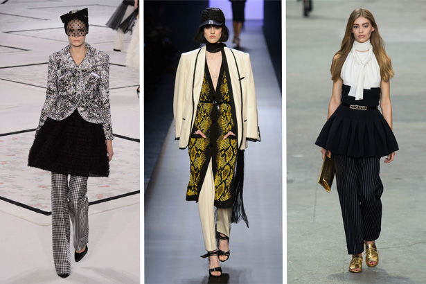 Giambattista Valli, Jean Paul Gaultier, Chanel Spring 2015; Image: IMaxTree