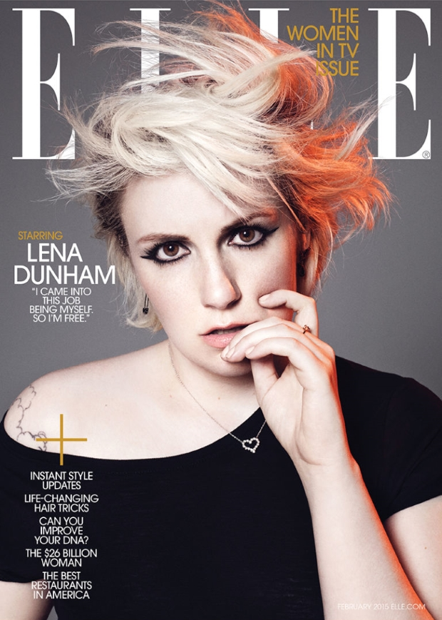 US Elle February 2015 Lena Dunham
