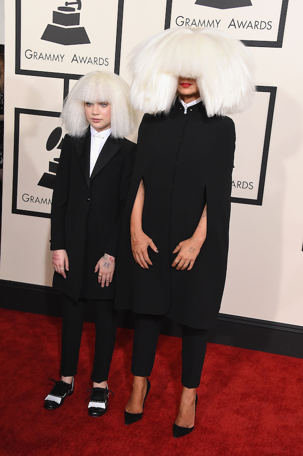sia maddie ziegler boss it up on the grammys red carpet