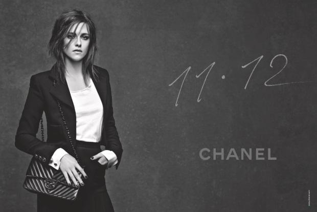 Ad Campaign Chanel Handbags 11.15 Kristen Stewart Karl Lagerfeld