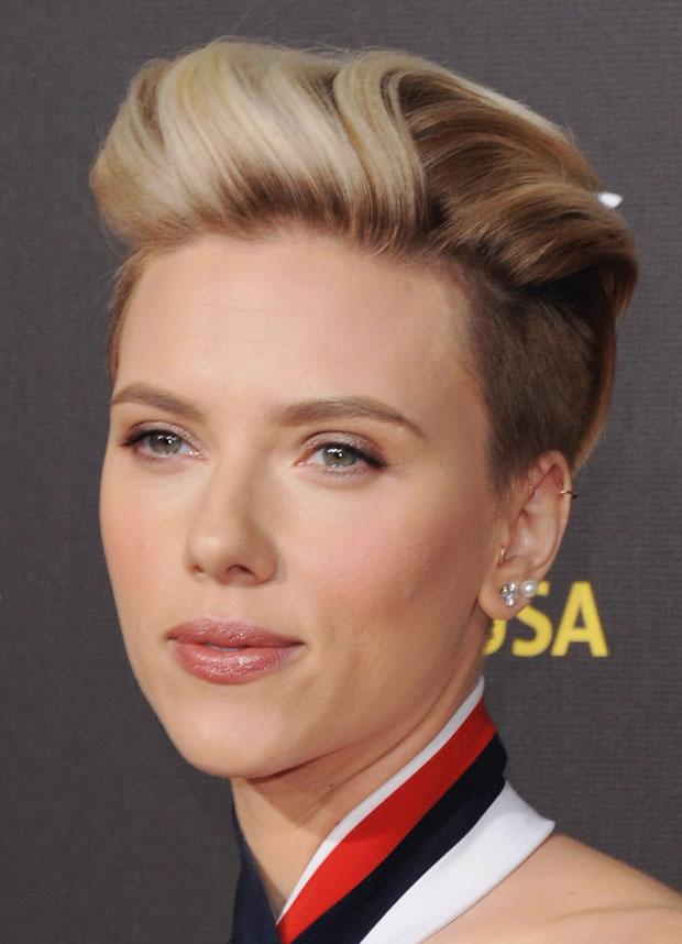 Scarlett Johansson Rocks A Refined Undercut And Romantic