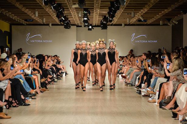 Viktoria Novak presents at Fashion Palette ART of fashion show