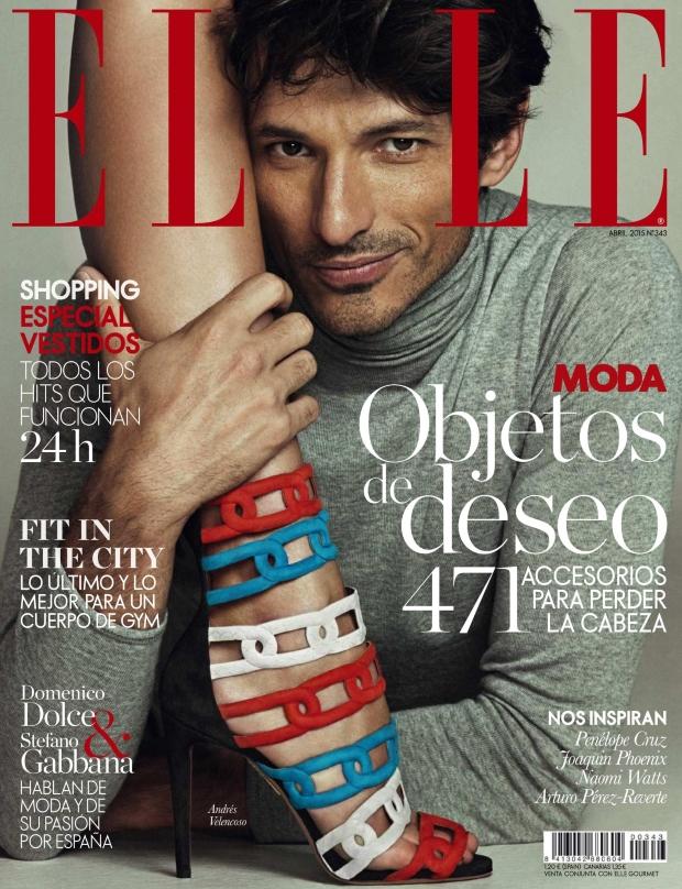 Elle Spain April 2015 André Velencoso