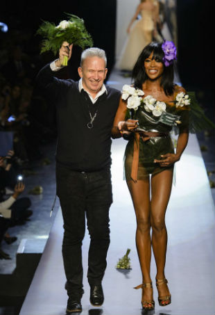 Gaultier and Naomi Campbell