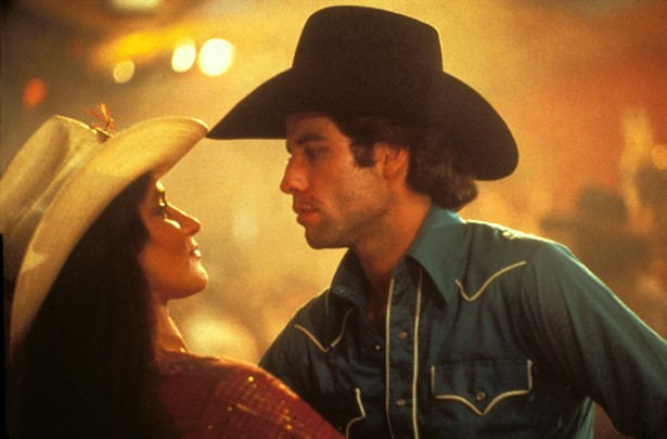 John Travolta and Debra Winger in Urban Cowboy