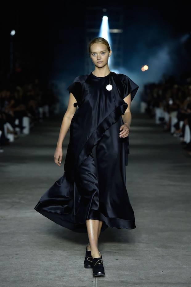 Gemma Ward walks Ellery