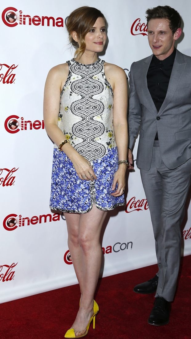Kate Mara sports a fantastic Giambattista Valli dress to CinemaCon