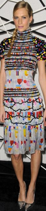 Poppy Delevingne in Chanel at MoMA dinner
