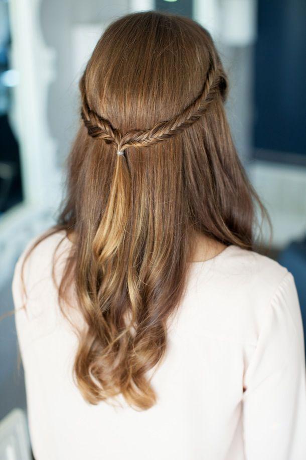 Half-up-half-down-fishtail-braid