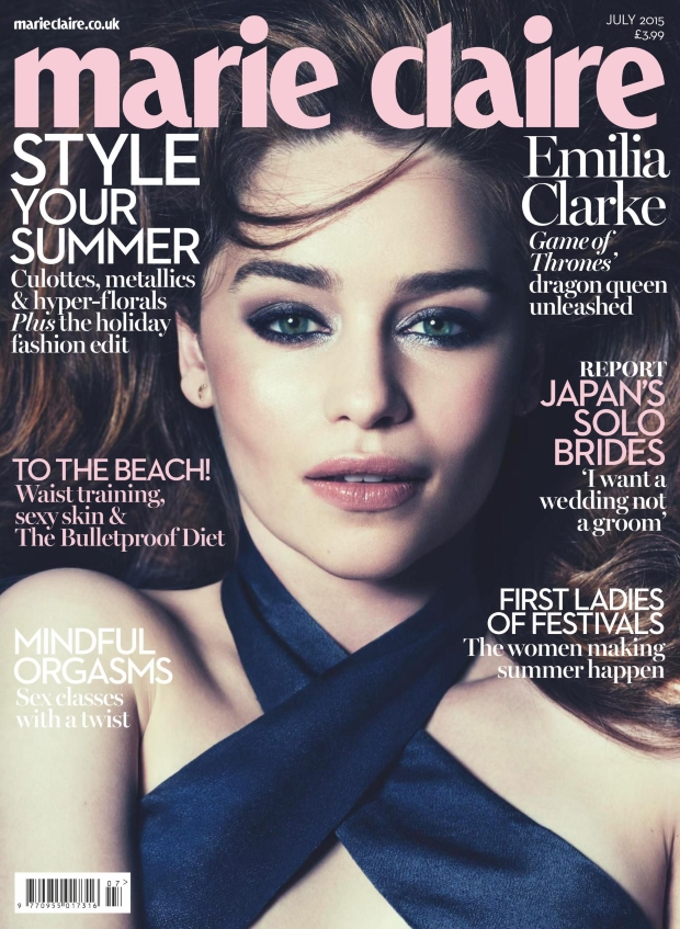 UK Marie Claire July 2015 Emilia Clarke by David Roemer