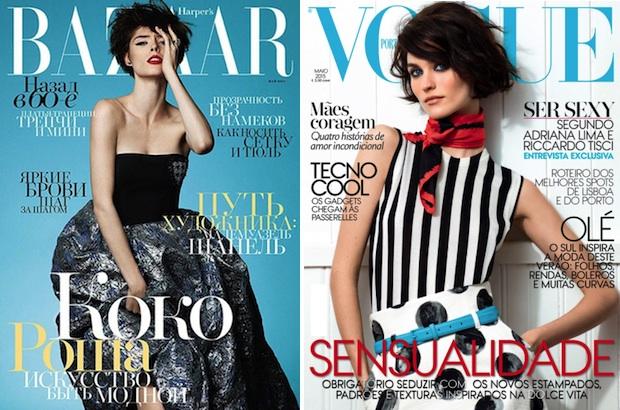 Coco Rocha via Harper's Bazaar Russia; Manon Leloup via Vogue Portugal