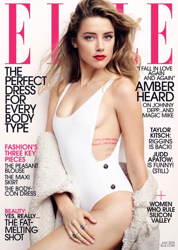 US ELLE July 2015 Amber Heard by Liz Collins