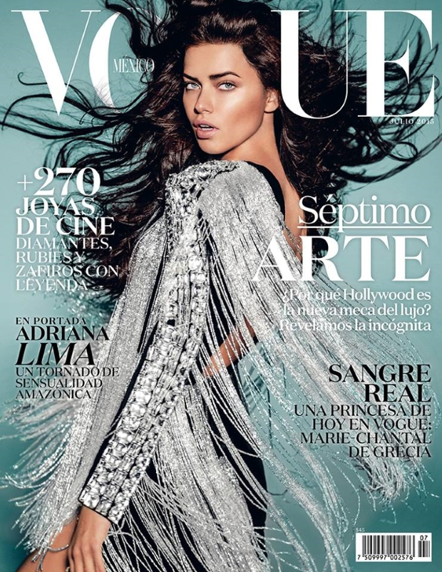 Vogue Mexico July 2015 Adriana Lima by Russell James