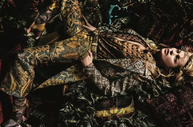 Etro Fall 2015 Ad Campaign Kate Moss by Mario Testino