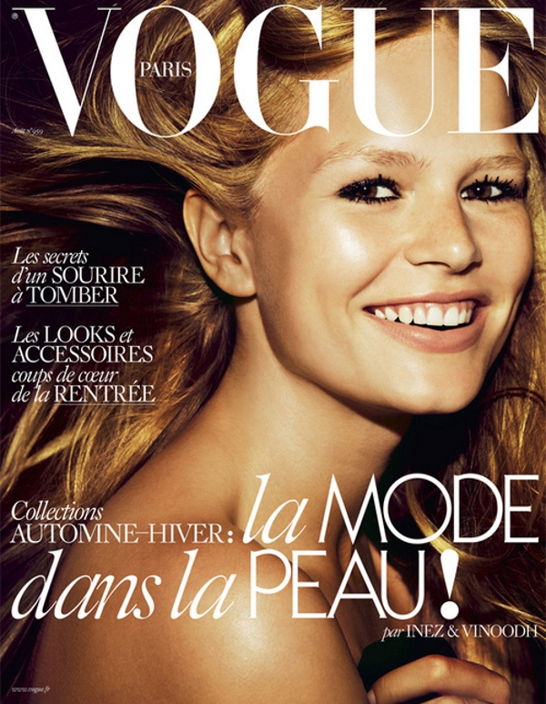 Vogue Paris August 2015 Anna Ewers by Inez & Vinoodh