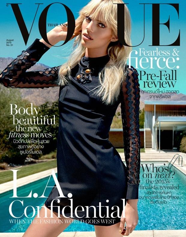 Vogue Thailand August 2015 Devon Windsor by Yu Tsai