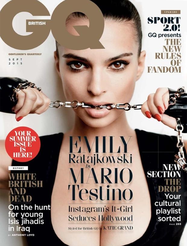 UK GQ September 2015 Emily Ratajkowski by Mario Testino