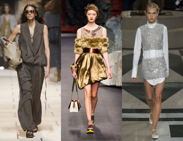 3 models walk runways for Milan Fashion Week