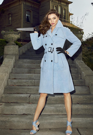 Miranda Kerr poses for Harper's Bazaar October 2015 issue