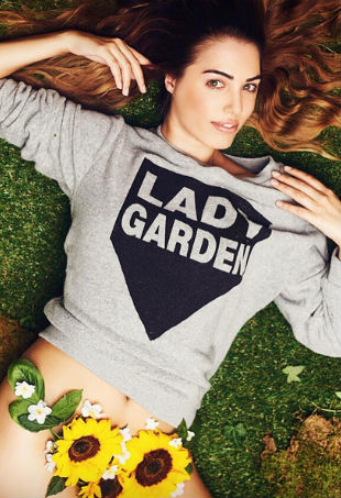 Amber Le Bon Lady Garden