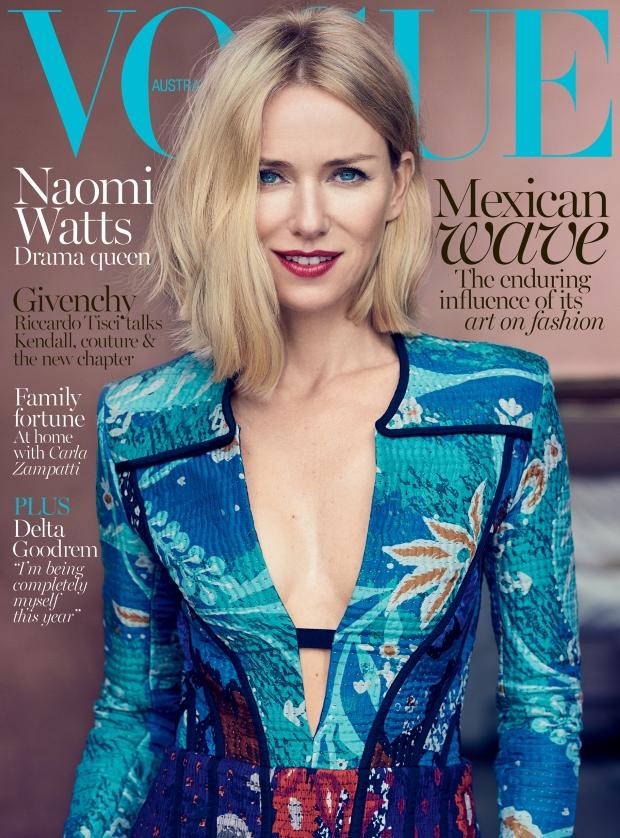 Vogue Australia October 2015 Noami Watts by Nathaniel Goldberg