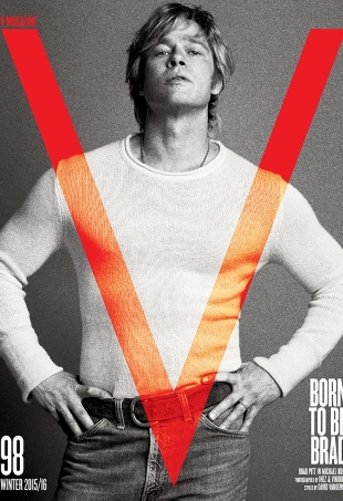 V Magazine #98 Winter 2015/16 : Brad Pitt by Inez & Vinoodh