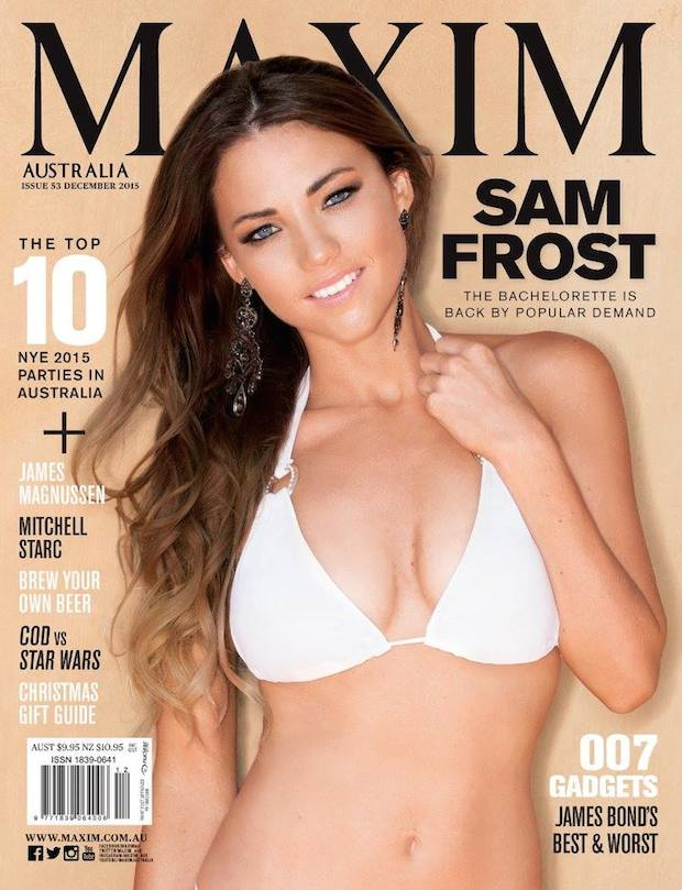 Sam Frost covers Maxim