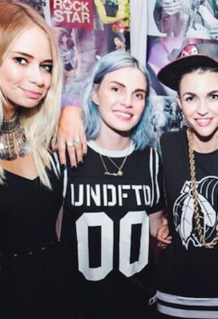 Tully Smyth, Phoebe Dahl and Ruby Rose