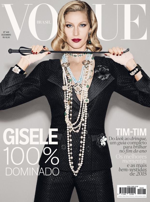 Vogue Brazil December 2015 : Gisele Bündchen by François Nars