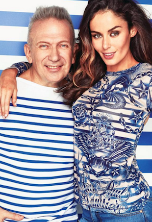 Nicole Trunfio with Jean Paul Gaultier
