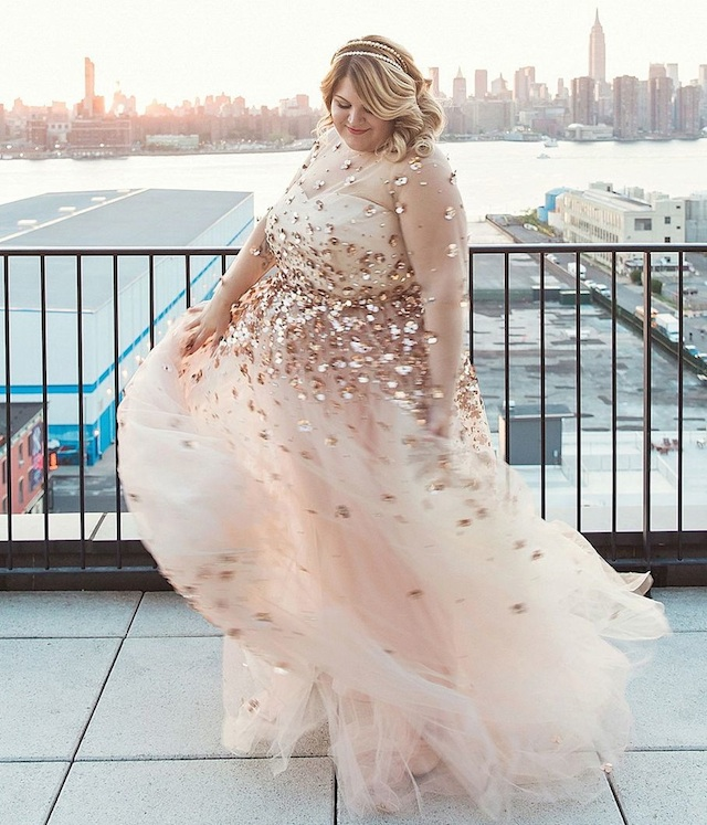 Nicolette Mason's wedding dress designed by Christian Siriano