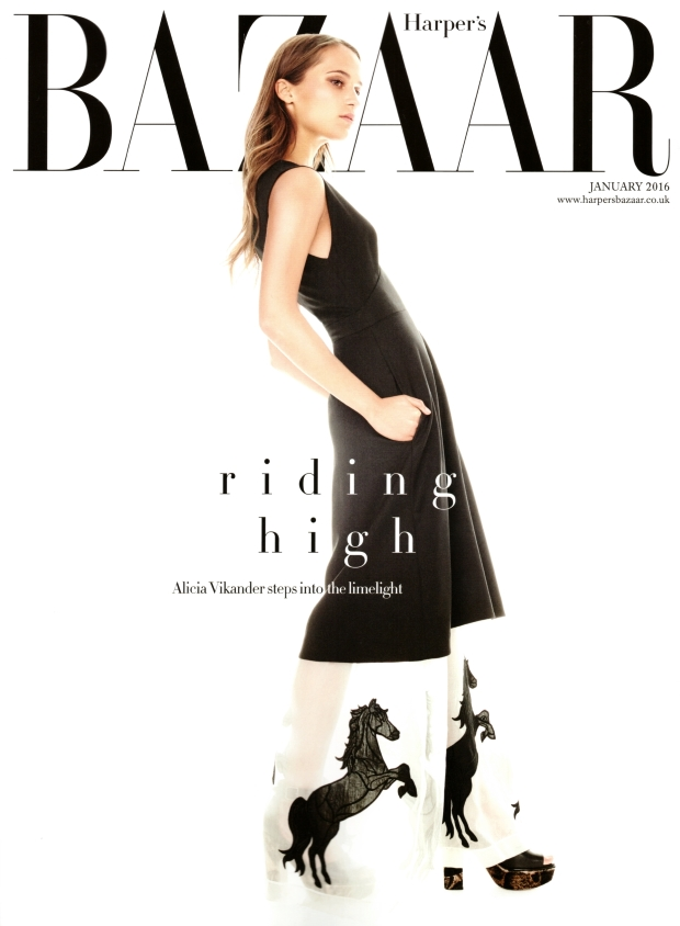 UK Harper's Bazaar January 2016 : Alicia Vikander by Alexi Lubomirski