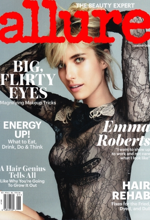 Allure January 2016 : Emma Roberts by Patrick Demarchelier