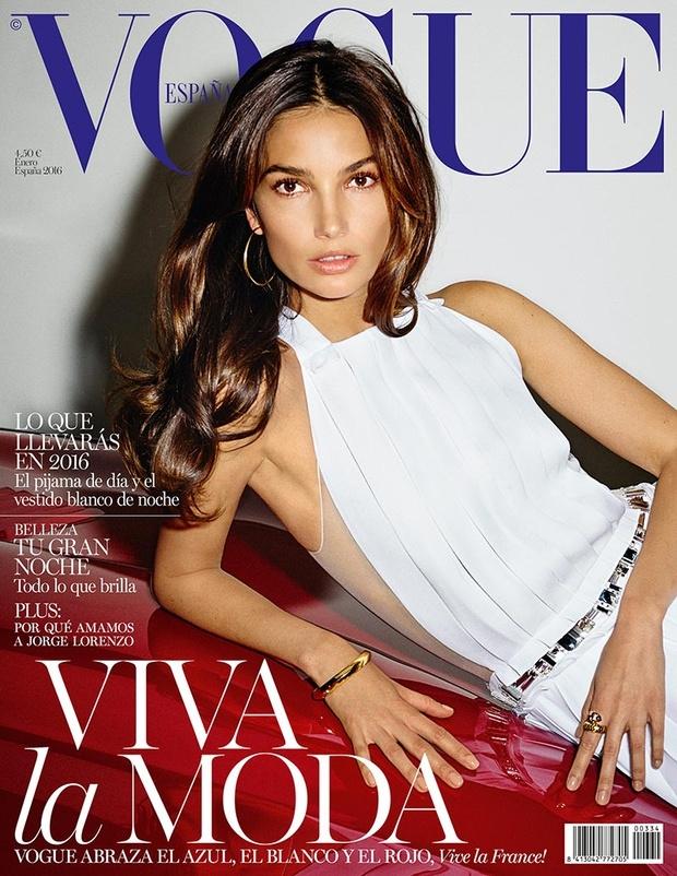 Vogue España January 2016 : Lily Aldridge by Ezra Pertonio