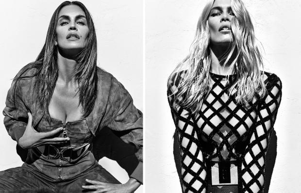 Balmain S/S 2016 : Cindy Crawford, Claudia Schiffer & Naomi Campbell by Steven Klein