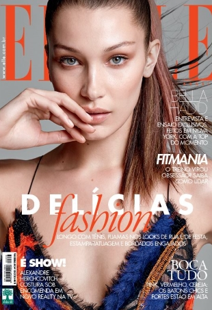Elle Brazil February 2016 : Bella Hadid by Max Abadian