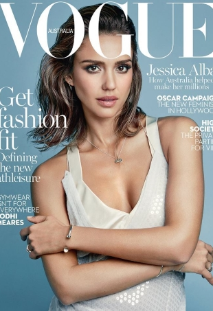 Vogue Australia February 2016 : Jessica Alba by Patrick Demarchelier