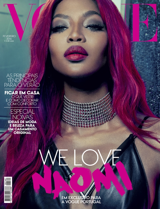 Vogue Portugal February 2016 : Naomi Campbell by An Le