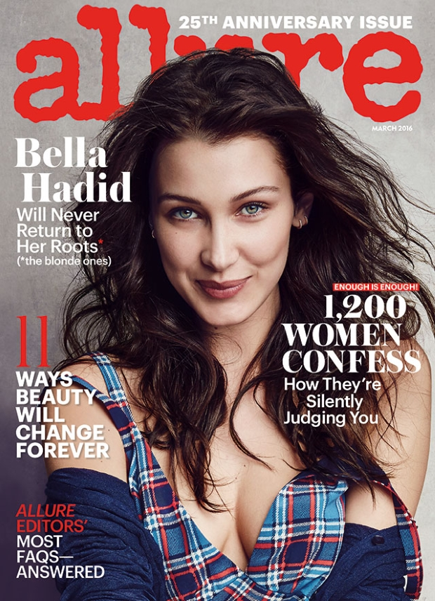 Allure March 2016 : Noami Campbell & Bella Hadid by Patrick Demarchelier