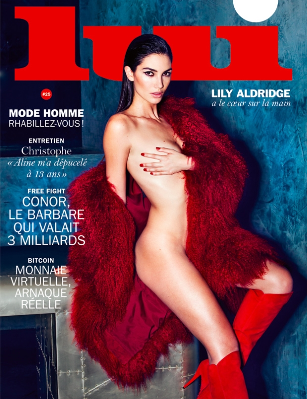 Lui March 2016 : Lily Aldridge by David Bellemere