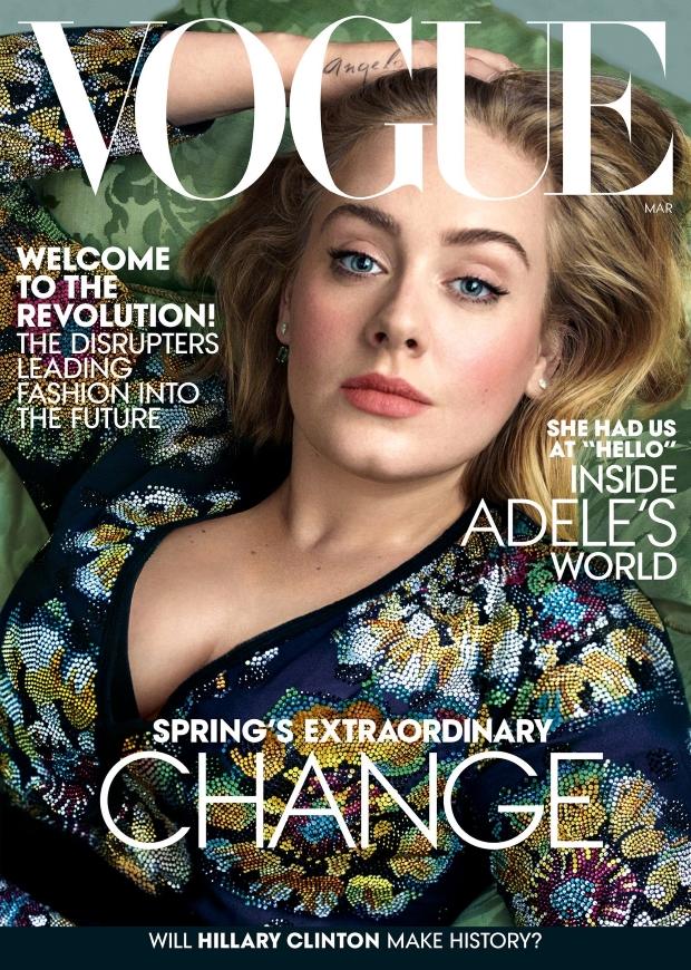 US Vogue March 2016 : Adele by Annie Leibovitz