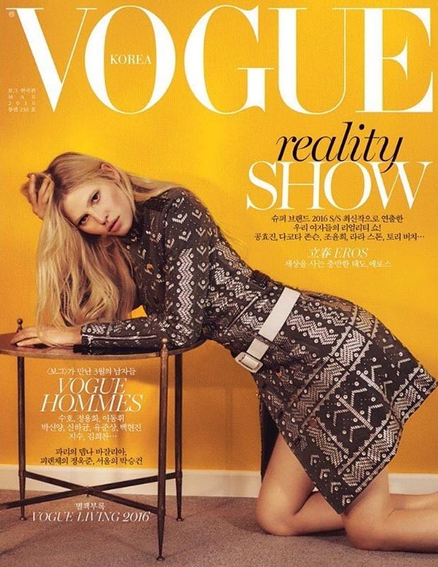 Vogue Korea March 2016 : Lara Stone by Emma Tempest