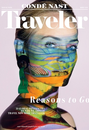 Condé Nast Traveler March 2016 : Amber Valletta by Inez & Vinoodh