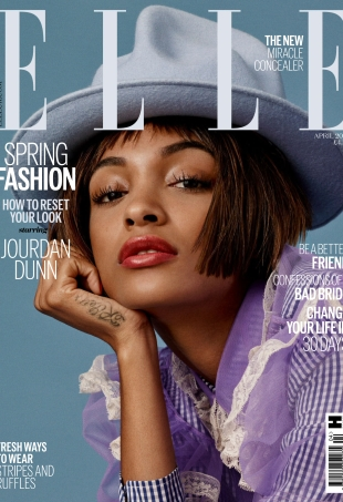 UK Elle April 2016 : Jourdan Dunn by Bjarne Jonasson