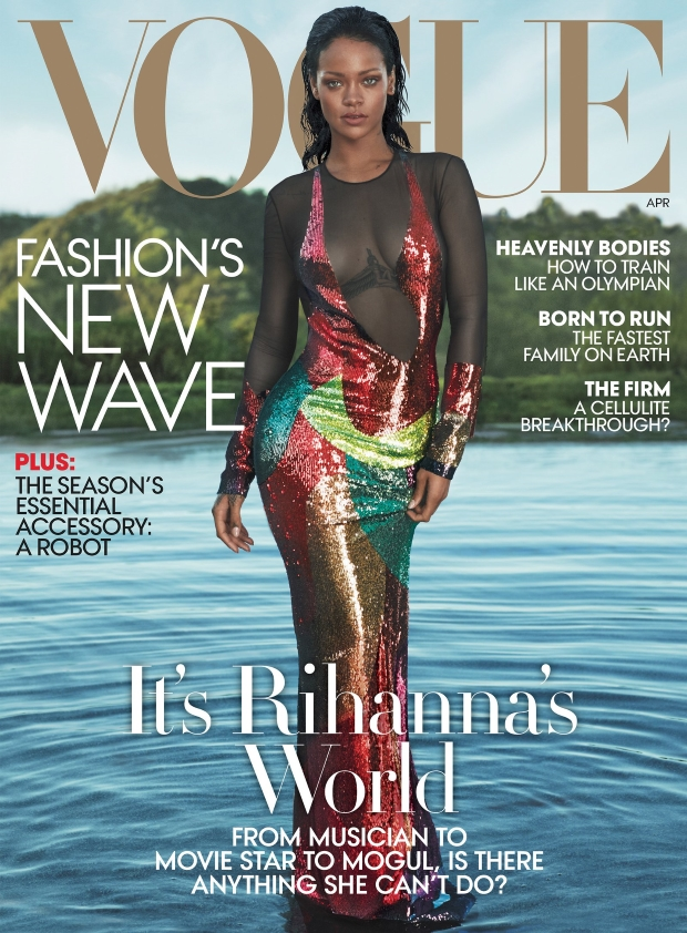 US Vogue April 2016 : Rihanna by Mert Alas And Marcus Piggott
