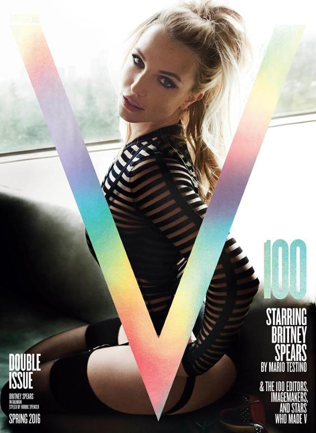 V Magazine #100 Spring 2016 : Britney Spears by Mario Testino