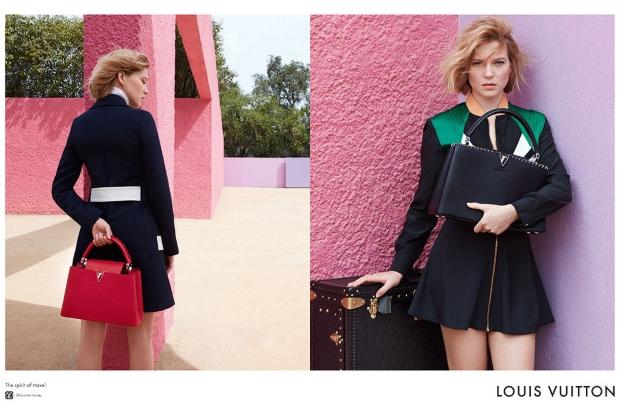 Louis Vuitton 'Spirit of Travel' S/S 2016 : Léa Seydoux by Patrick Demarchelier