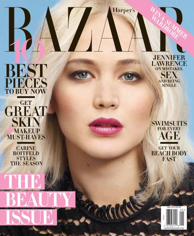 US Harper's Bazaar May 2016 : Jennifer Lawrence by Mario Sorrenti